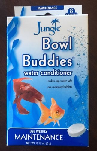 JUNGLE LABS WATER CONDITIONER TABS 8 TABLETS TANK BOWL BUDDIES FREE SHIP USA