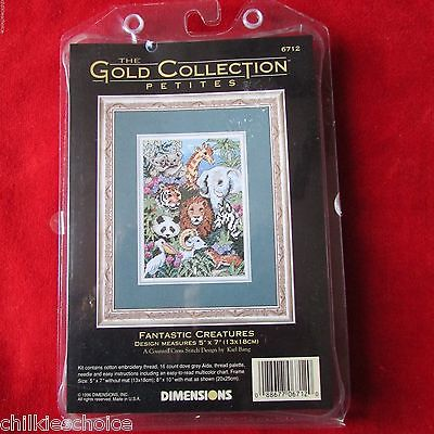 Dimensions Gold Collection Petite Fantastic Creatures Cross Stitch Kit NIP