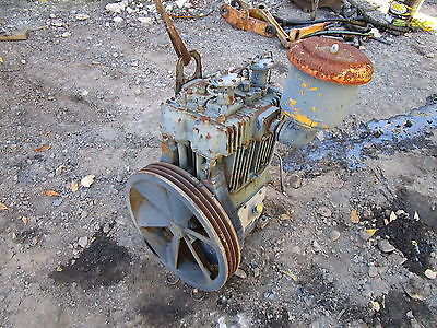 Quincy 340 Air Compressor Head WORKS GOOD COMPLETE! Wisconsin Engine