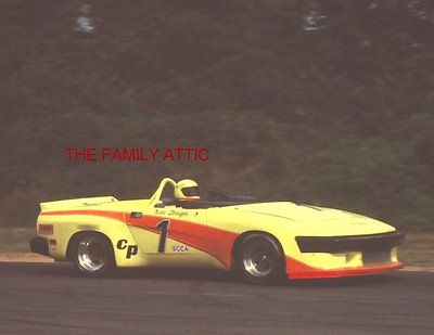 KEN SLAGLE #1 CP TRIUMPH TR8 CONVERTIBLE 1980 RACING PHOTO SUMMIT POINT WV RACE