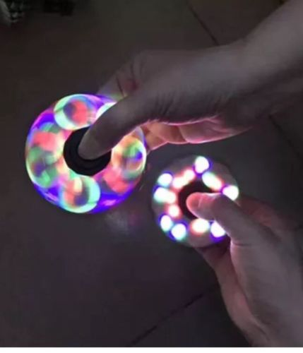 Light up Fidget hand Fast Spinner Toy For Stress Relieving