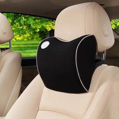 Black & White Memory foam Car Seat Head Neck Waist Rest Support Pillow Fit Honda