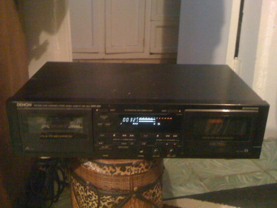 DENON DRW-660 DUAL CASSETTE RECORDER PLAYER  DECK