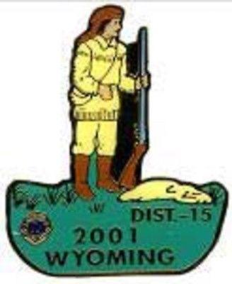 Lions Club Pins - Wyoming 2001 Mountain Man