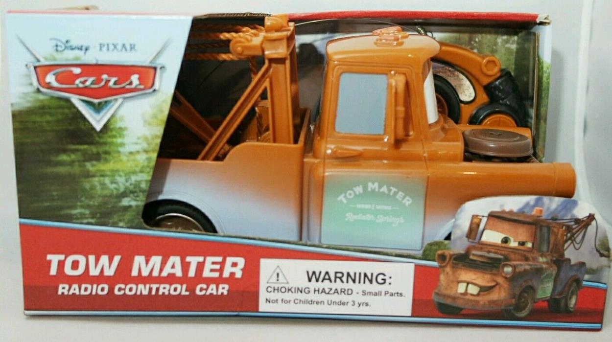 DISNEY Cars LIGHTNING Tow Mater Brown Tow Truck Remote Control Car Toy RC 3+