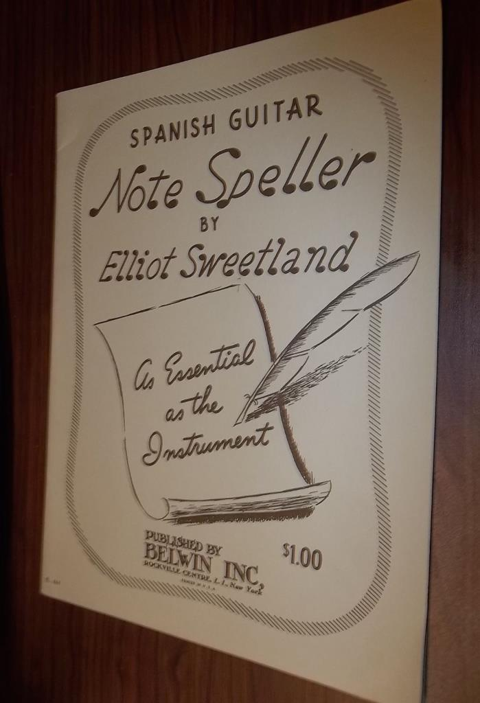 Spanish Guitar Note Speller by Elliot Sweetland C-1951
