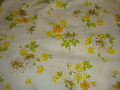 Vintage Daisy Flower QUEEN Flat Bed Sheet