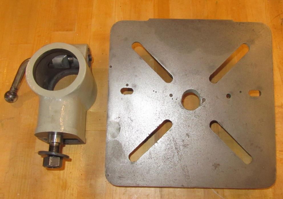 Craftsman / Atlas table and bracket for 15-in. drill press with 2-3/4 in. column
