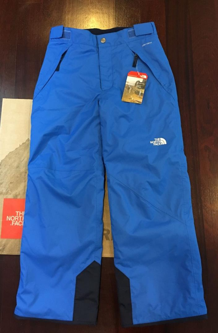 New The North Face Youth Boys Freedom Insulated Pants 10 12 Med Snow Ski Blue