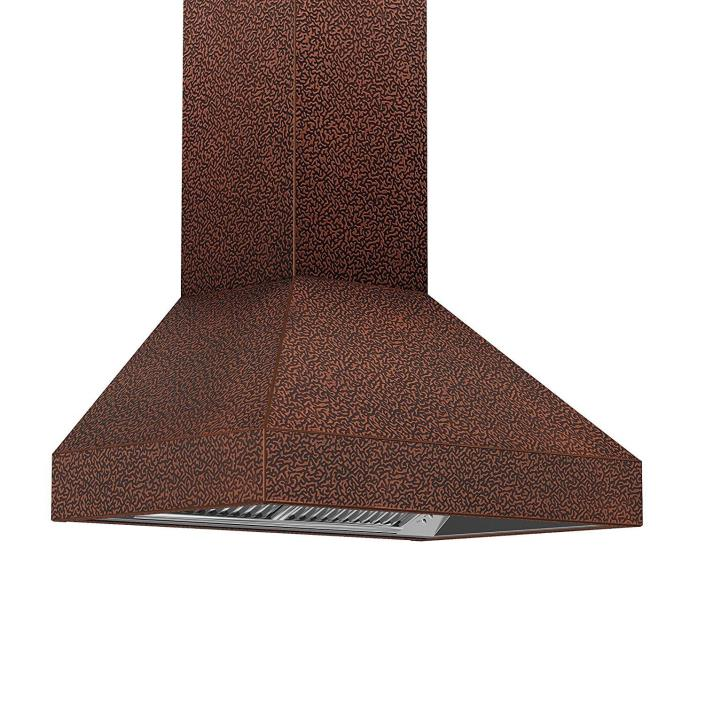 Z Line 8667E-48 1200 CFM Wall Mount Range Hood with Embossed Copper Finish, 48