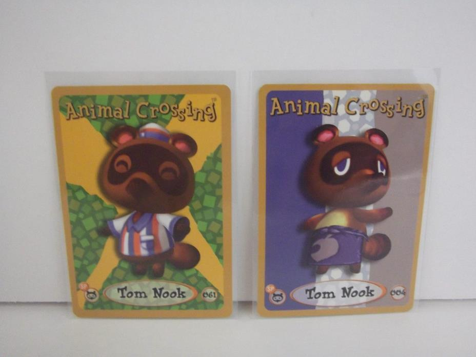 Animal Crossing Nintendo Game Boy E Reader Cards Tom Nook 004 061 lot of 2 L74