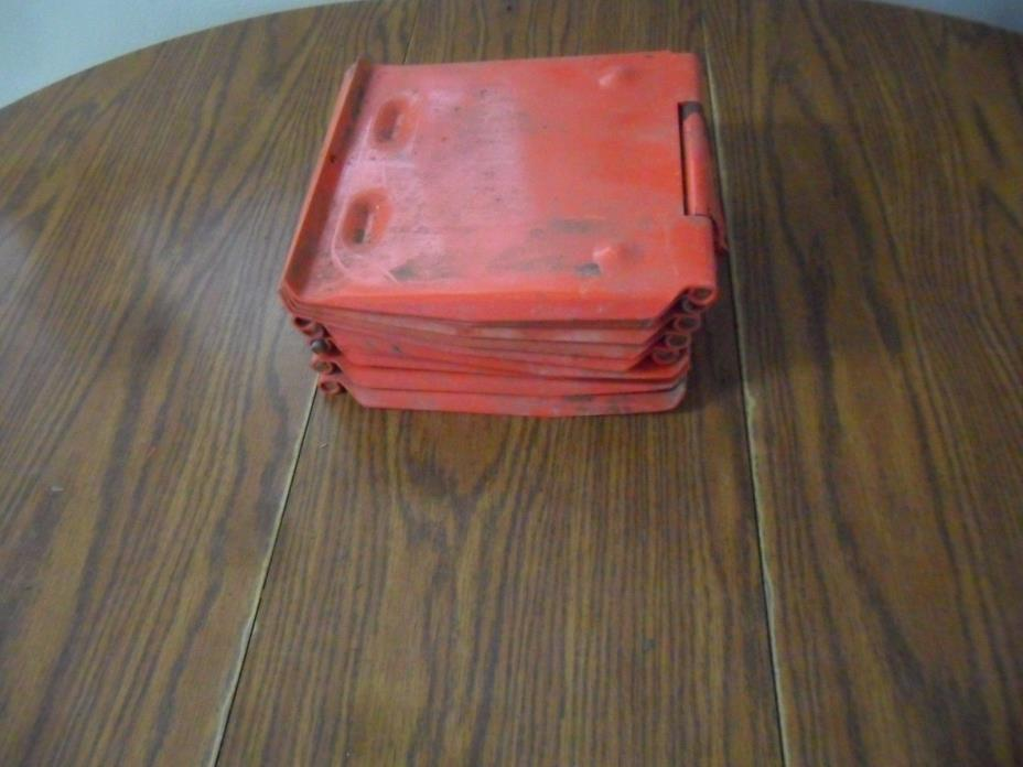 Lot Of 10 NOS Water  Pig Hog  Swine Livestock Metal  Covers Lids  Repurpose