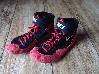 Nike Inflict Red Wrestling Mat Shoes Men's Size 10