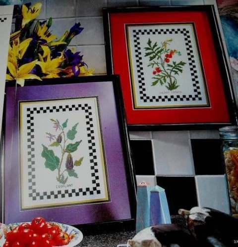 Eggplants & Cherry Tomatos Counted Cross Stitch Magazine Patterns  V23