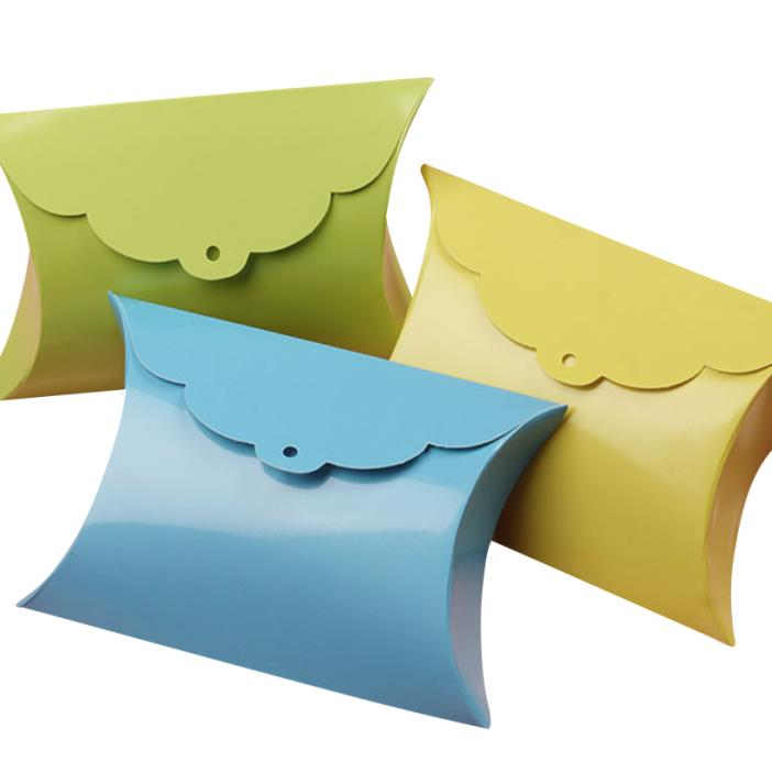 High Quality Tab Pillow Favor Boxes (Pack of 50) - Choose your Color