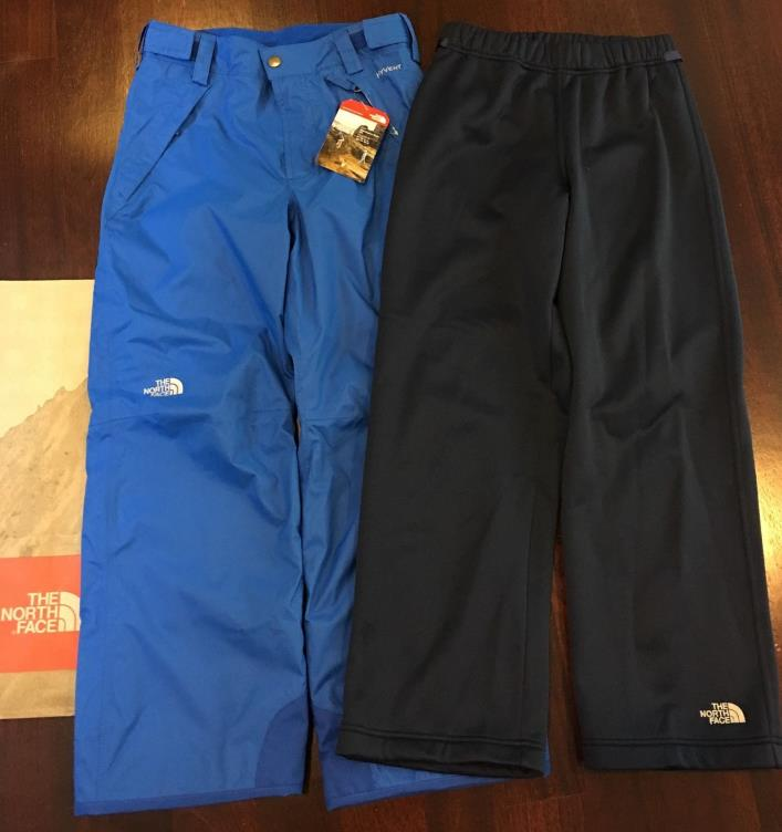 New The North Face Boys Snowquest Triclimate 3 In 1 Pants 10 12 Snow Ski Blue