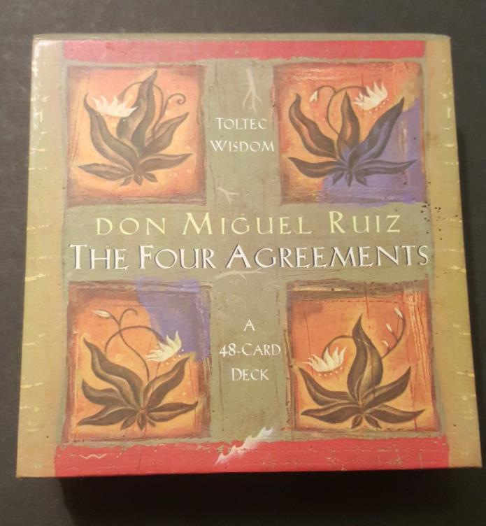 The Four Agreements by Don Jose Ruiz and Don Miguel Ruiz Inspiration Cards