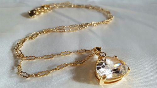 Swarovski Crystal Necklace - Gold Tone