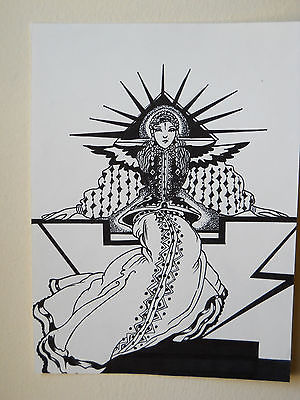 PEN AND INK DRAWING....