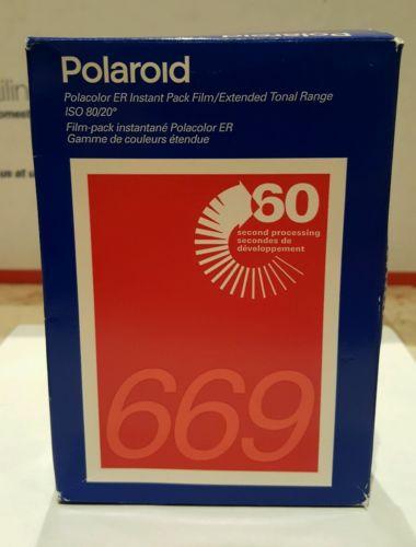 New Sealed! Polaroid 669 Polacolor ER Instant Pack Film 2-Pack, 16 Photos