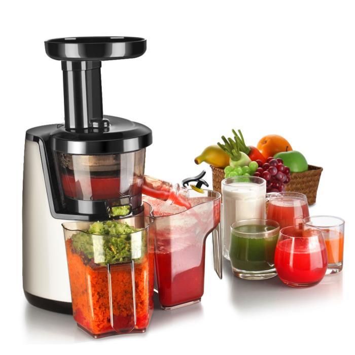 Cold Press Juicer Machine Masticating Juicer Slow Juice Extractor Maker Cup/Bowl