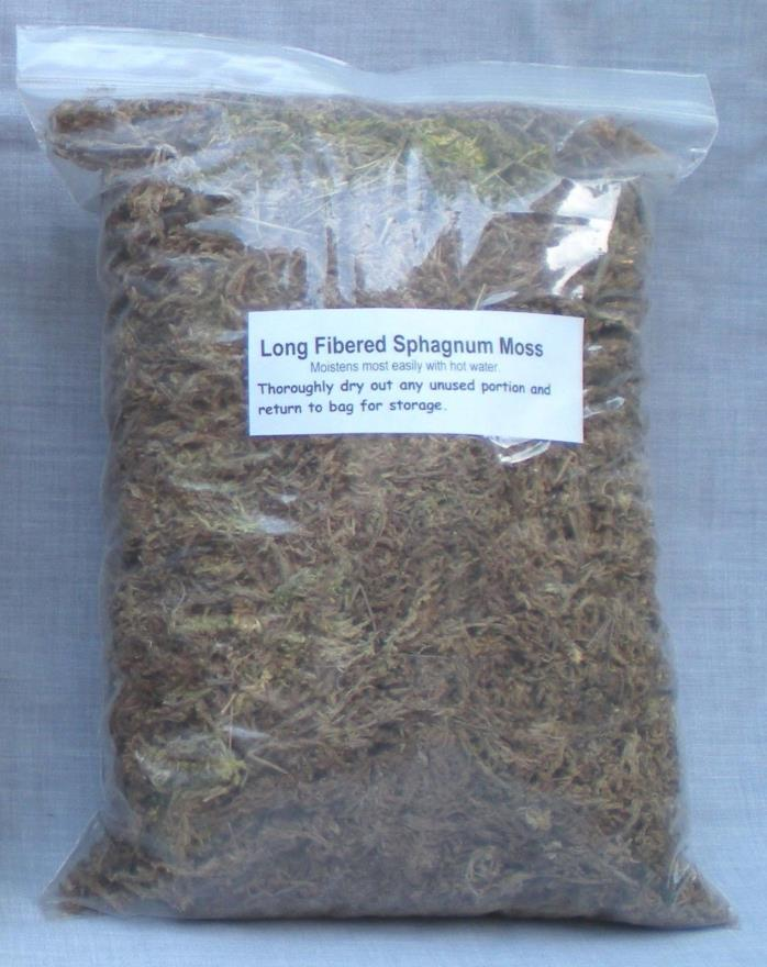 Long Fibered Sphagnum Moss 3 oz. shipping included