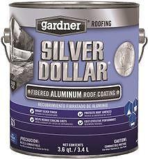 GARDNER SILVER DOLLAR FIBERED ALUMINUM ROOF COATING, 1 GALLON