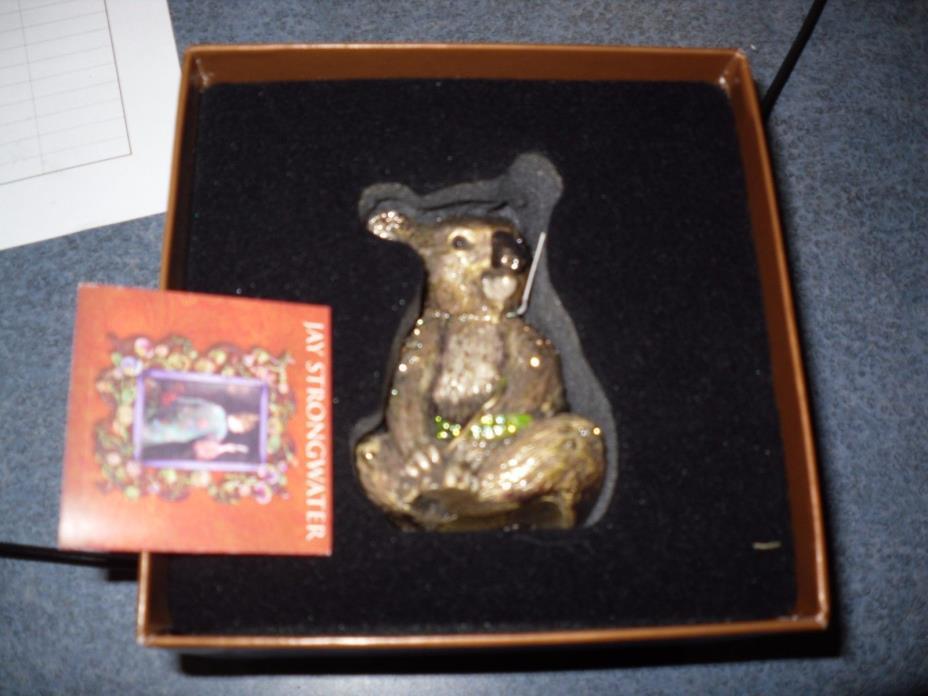Jay Strongwater koala bear Figurine with Swarovski Crystals nib