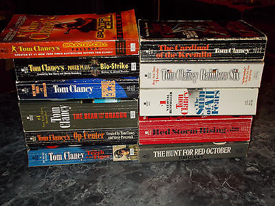 Tom Clancy lot of 11 suspense paperbacks