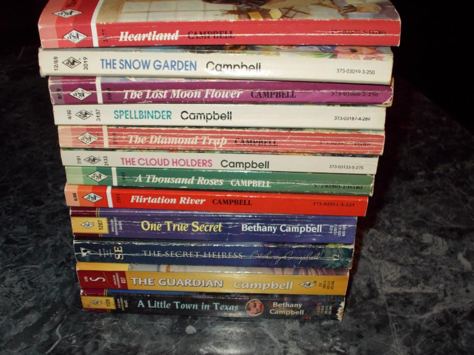 Harlequin Silhouette Bethany Campbell lot of 12 contemporary romance paperbacks