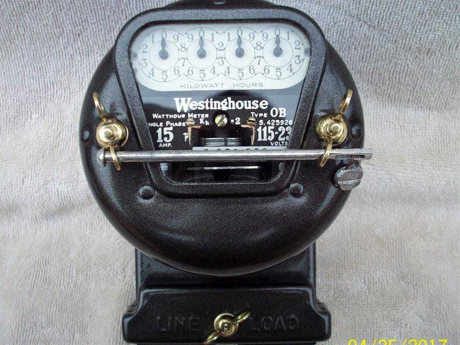 Antique Watt Meter : Electric meter lamp for sale classifieds