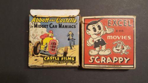 (2) ~  Vintage Home Movie Film Reels ~ Abbott and Costello & Scrappy