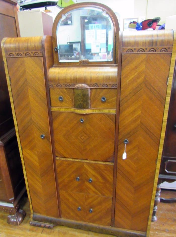 Vintage Waterfall Vanity And Armoire ~ Antique chifferobe for sale classifieds