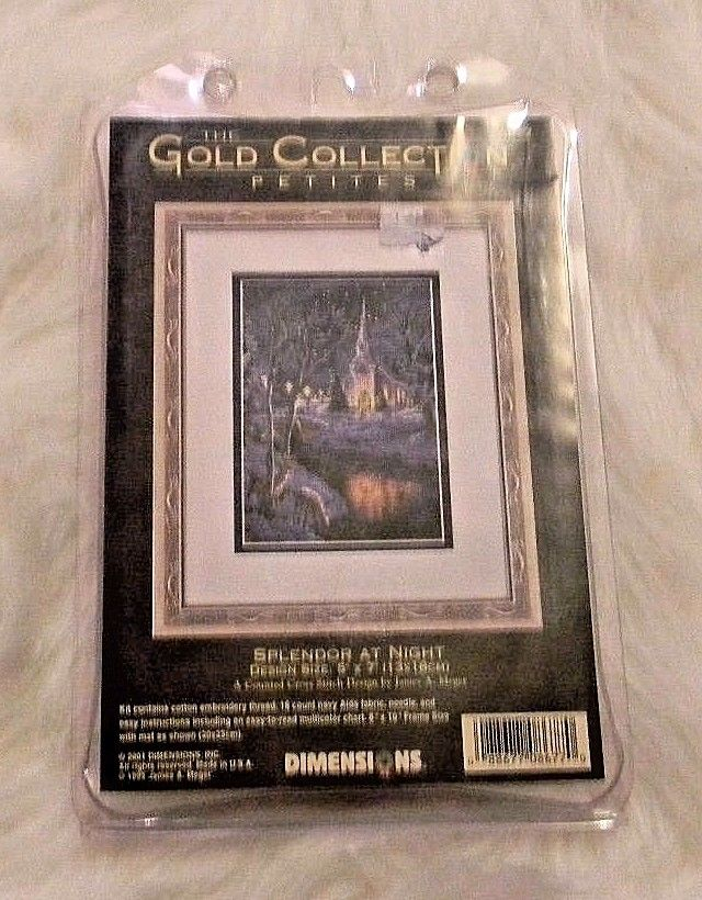 The Gold Collection Petites Cross Stitch Kit SPLENDOR AT NIGHT Dimensions 8677
