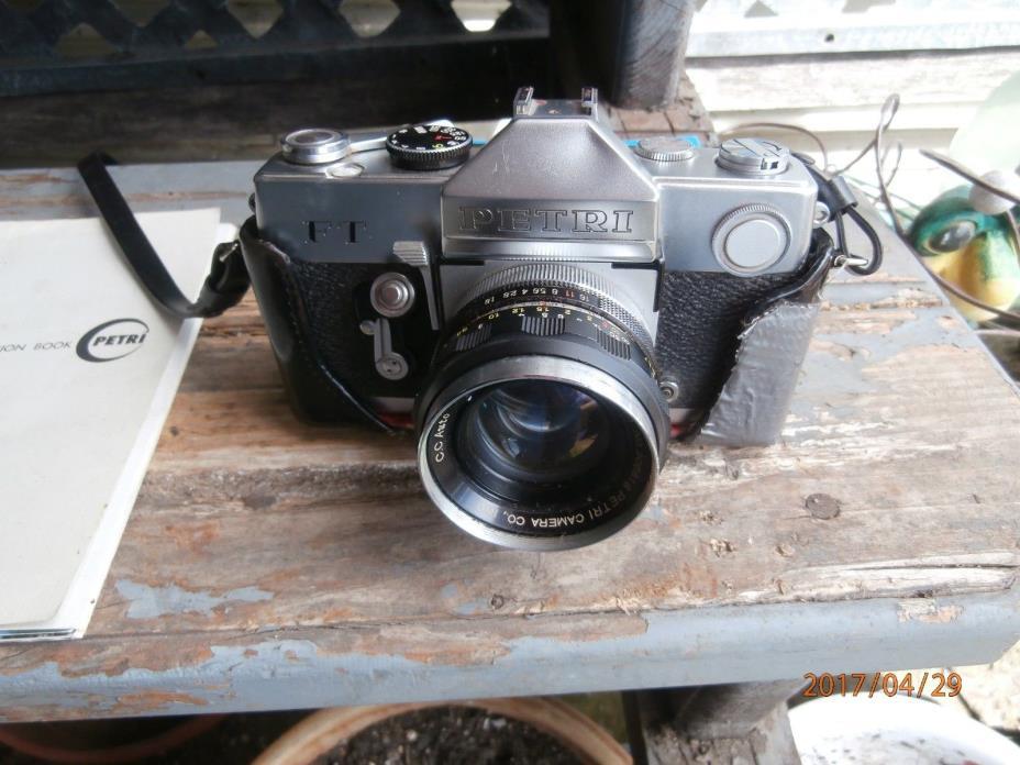 Vintage PETRI FT 35mm SLR Camera  w/Original 12 Page Instruction Book & VTG Film