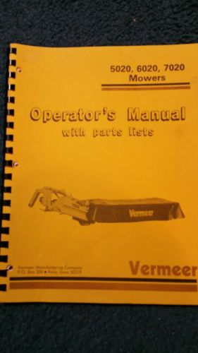 VERMEER 5020 6020 7020 MOWER OPERATOR'S MANUAL
