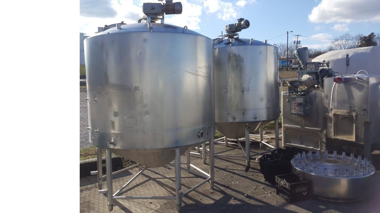 1000 Gallon Stainless Steel Cone Bottom WALKER TANKS