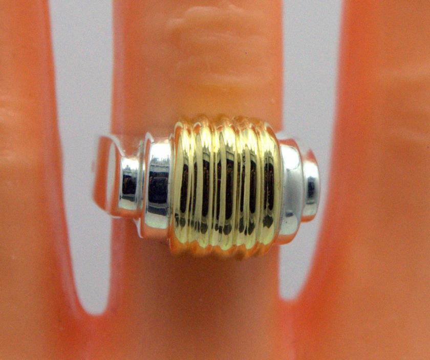 LAGOS RUCHED CENTER RING 925 STERLING SILVER 18K