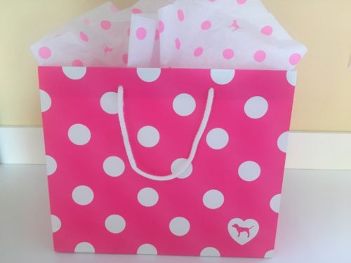 Victoria's Secret PINK POLKA Dot Gift Bag SMALL