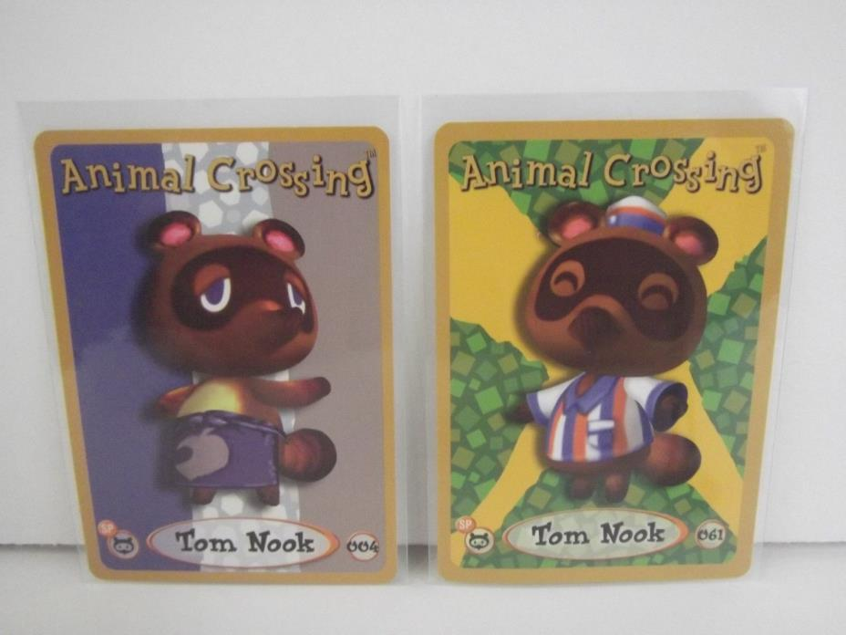 Animal Crossing Nintendo Game Boy E Reader Cards Tom Nook 004 061 lot of 2 L75