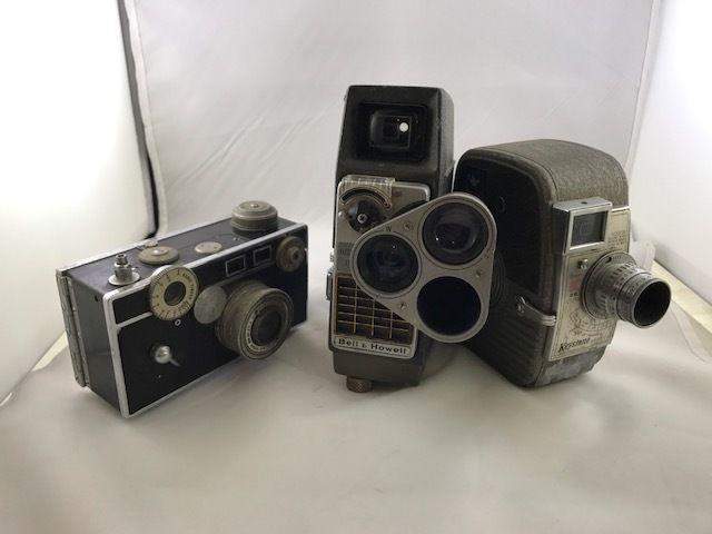 3 vintage cameras - Keysteon k25 kapri - B&H electric eye - Argus