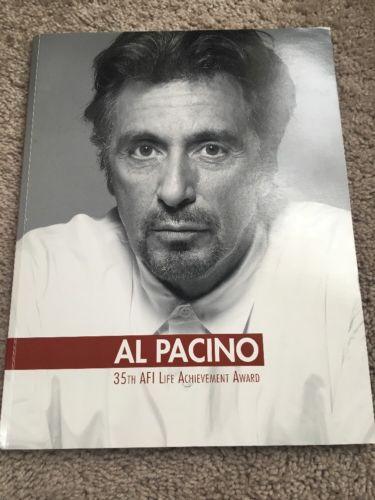 Al Pacino  35th AFI Life Achievement Award SC BOOK