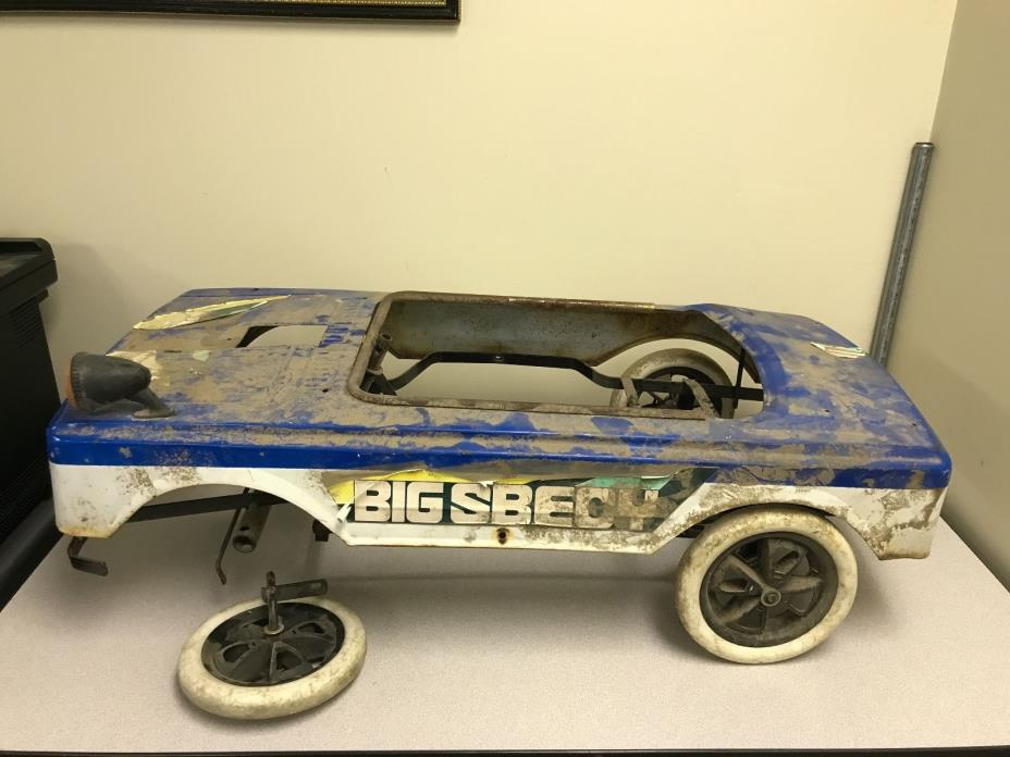 Vintage Metal BIG SBECY Pedal Car - Kansas Dust Included / Scarce