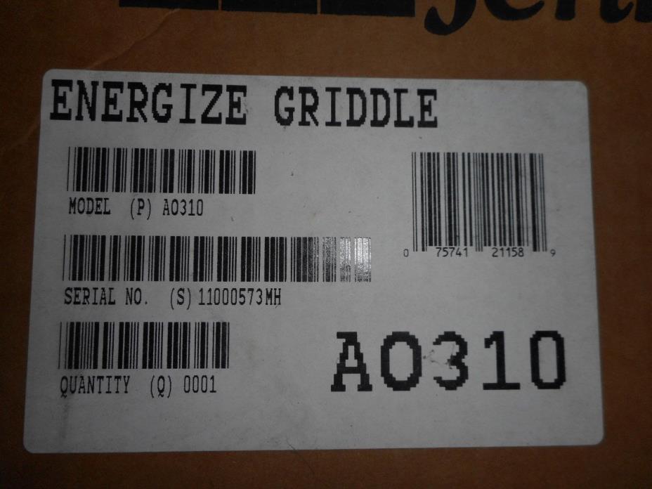 JENN-AIR ENERGIZE GRIDDLE AO310