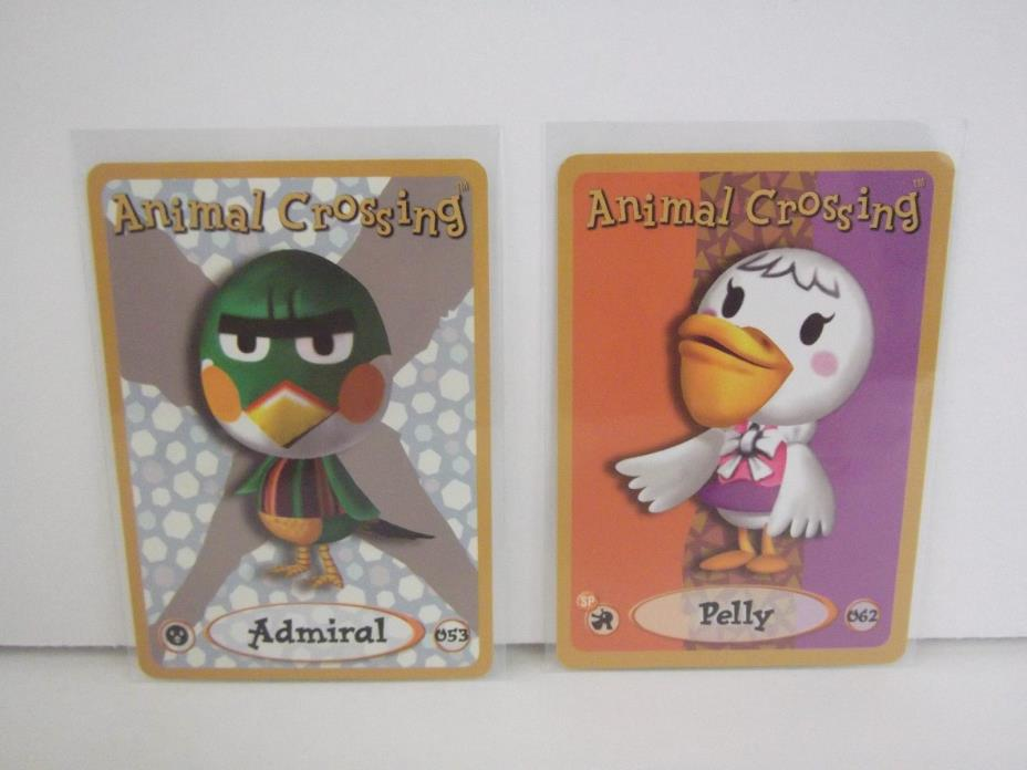 Animal Crossing Nintendo Game Boy E Reader Cards Admiral 053 Pelly 062 lot L71