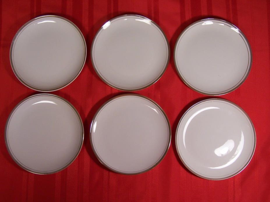 6 Royalton Fine China White & Gold 6-3/8