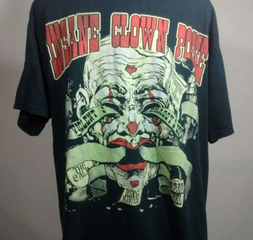 Insane Clown Posse Carnival of Carnage Vintage VTG T-Shirt Black Mens Large ICP