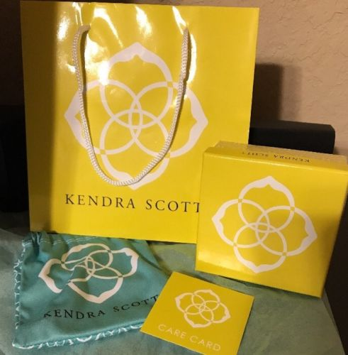 KENDRA SCOTT ?? Dust Bag ?? Jewelry Bag?? Care Card ?? Box AUTHENTIC SIGNATURE
