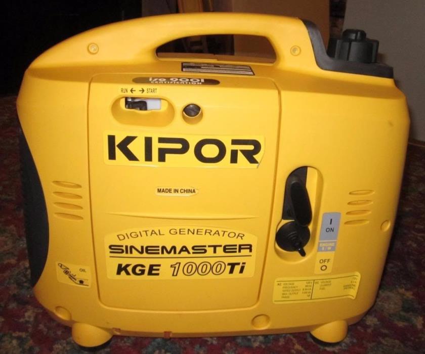 Kipor KGE1000Ti 1000 Watt Gasoline Inverter Generator No Reserve