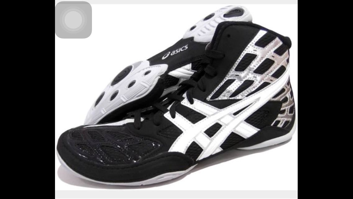 New Men's ASICS Split Second 9 Wrestling Shoes Sz 7.5 J203Y 9001